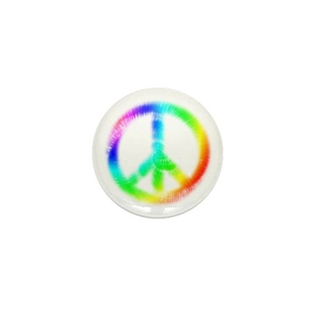 Tie Dye Peace Sign Mini Button (100 pack)