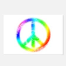 Tie Dye Peace Sign Postcards (Package of 8)