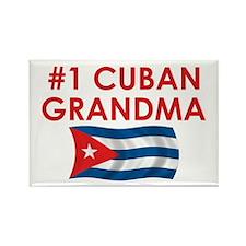 #1 Cuban Grandma Rectangle Magnet