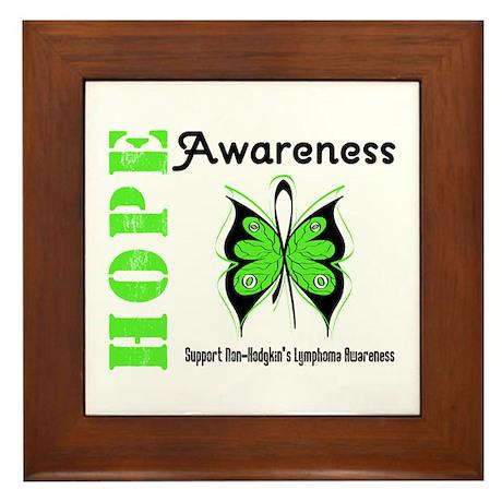 Non-Hodgkin's Hope Framed Tile