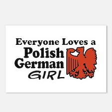 Polish German Girl Postcards (Package of 8)