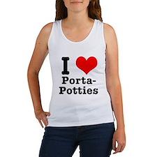 I Heart (Love) Porta Potties Women's Tank Top