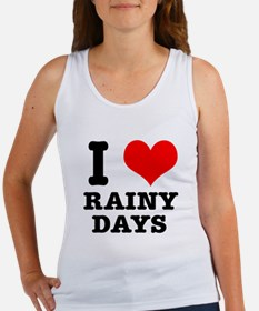 I Heart (Love) Rainy Days Women's Tank Top