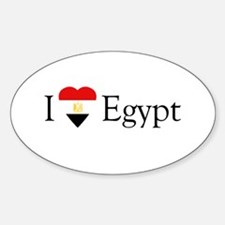 I Love Egypt Oval Decal