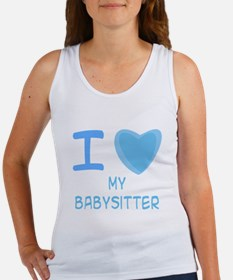 Blue I Heart (Love) My Babysi Women's Tank Top