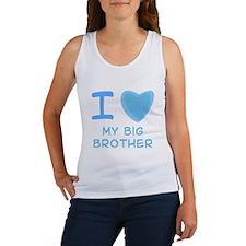 Blue I Heart (Love) My Big Br Women's Tank Top