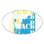 Words of PEACE Oval Sticker