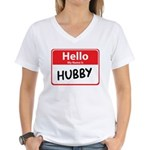 Hello My Name is Hubby Women's V-Neck T-Shirt