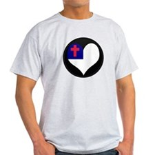 I love CHRISTIAN Flag T-Shirt
