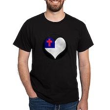 I love CHRISTIAN Flag T-Shirt