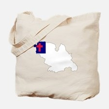 CHRISTIAN Flag Map Tote Bag