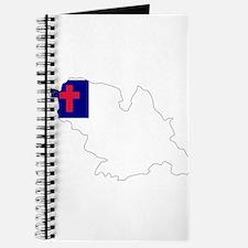 CHRISTIAN Flag Map Journal
