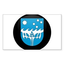 Coat of Arms of CHRISTMAS IS Rectangle Decal