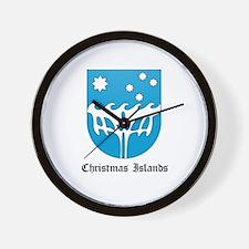 Christmas Islander Coat of Ar Wall Clock
