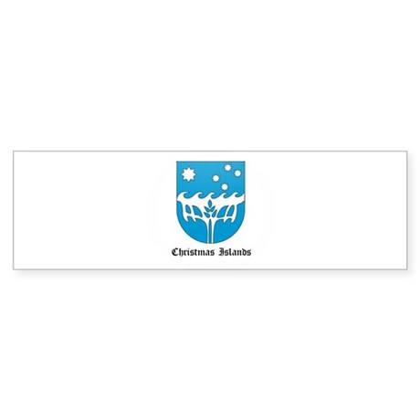 Christmas Islander Coat of Ar Bumper Sticker