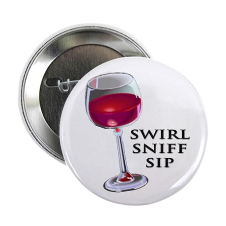 """Swirl Sniff Sip 2.25"""" Button (100 pack)"""