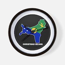Flag Map of CHRISTMAS ISLAND Wall Clock