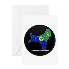 Flag Map of CHRISTMAS ISLAND Greeting Card