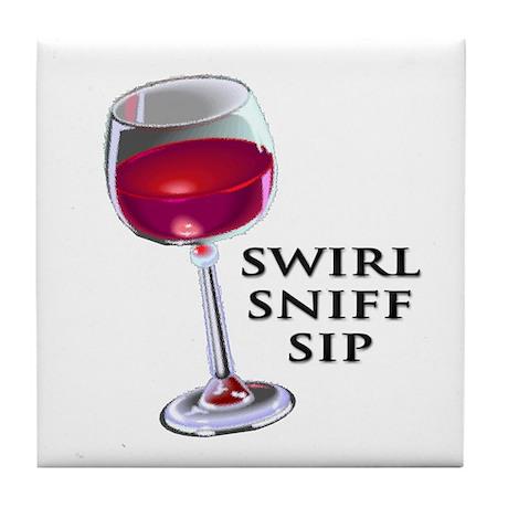 Swirl Sniff Sip Tile Coaster
