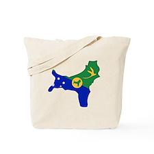 CHRISTMAS ISLAND Flag Map Tote Bag