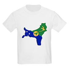 CHRISTMAS ISLAND Flag Map T-Shirt