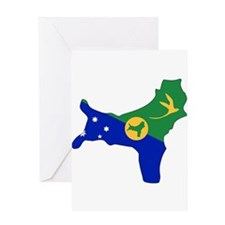 CHRISTMAS ISLAND Flag Map Greeting Card