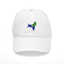 CHRISTMAS ISLAND Flag Map Baseball Baseball Cap