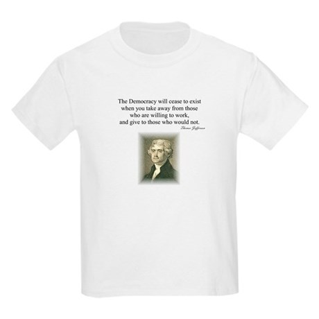 """End of Democracy"" Kids Light T-Shirt"