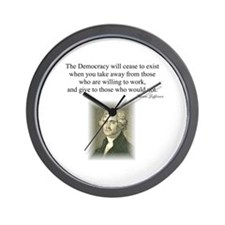 """""""End of Democracy"""" Wall Clock"""