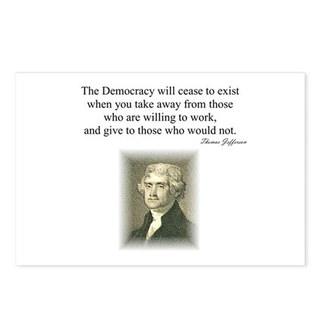 """""""End of Democracy"""" Postcards (Package of 8)"""