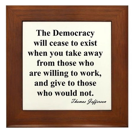 """End of Democracy"" Framed Tile"