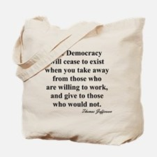 """""""End of Democracy"""" Tote Bag"""