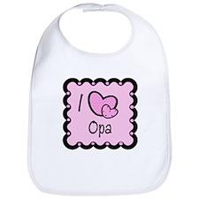 I Love Opa Bib