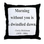 Emily Dickinson 13 Throw Pillow