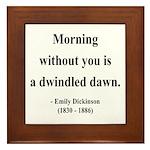 Emily Dickinson 13 Framed Tile