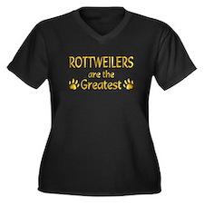 Rottweiler Women's Plus Size V-Neck Dark T-Shirt