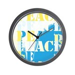 Words of PEACE Wall Clock