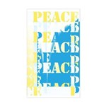Words of PEACE Rectangle Sticker