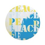 Words of PEACE Ornament (Round)