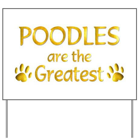 Poodle Yard Sign