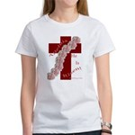 Easter Cross with Rose Swag Women's T-Shirt