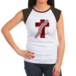 Easter Cross with Rose Swag Women's Cap Sleeve T-S