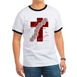 Easter Cross with Rose Swag Ringer T