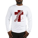 Easter Cross with Rose Swag Long Sleeve T-Shirt