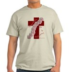 Easter Cross with Rose Swag Light T-Shirt