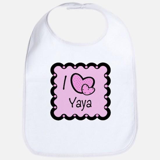 I Love YaYa Bib
