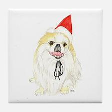 Pekingese Christmas Tile Coaster