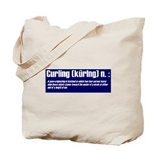 """Curling defined"" Tote Bag"