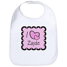 I Love Zayde Bib