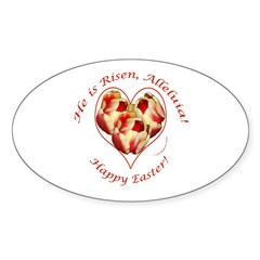 Easter Tulips Oval Decal